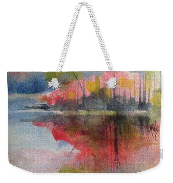 Red Lake Reflection #2 Weekender Tote Bag