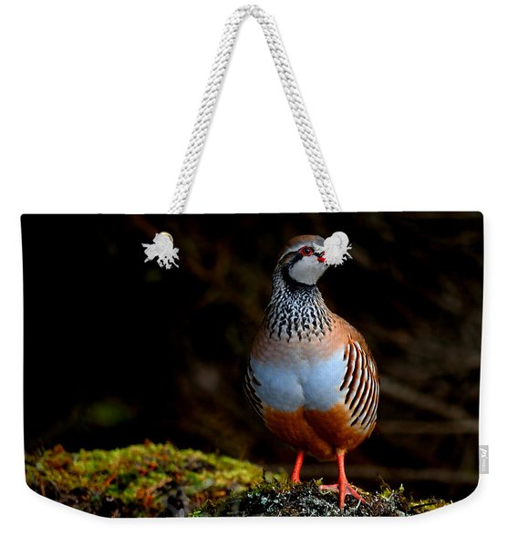 Red-legged Partridge Weekender Tote Bag