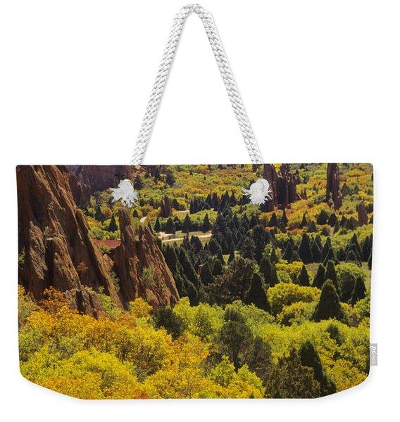 Red Lyons Sandstone Formations Weekender Tote Bag