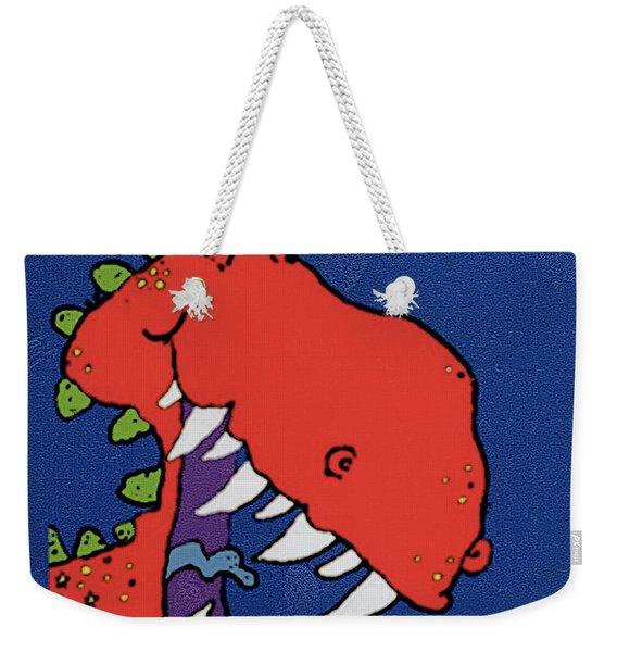 Red Monster Weekender Tote Bag