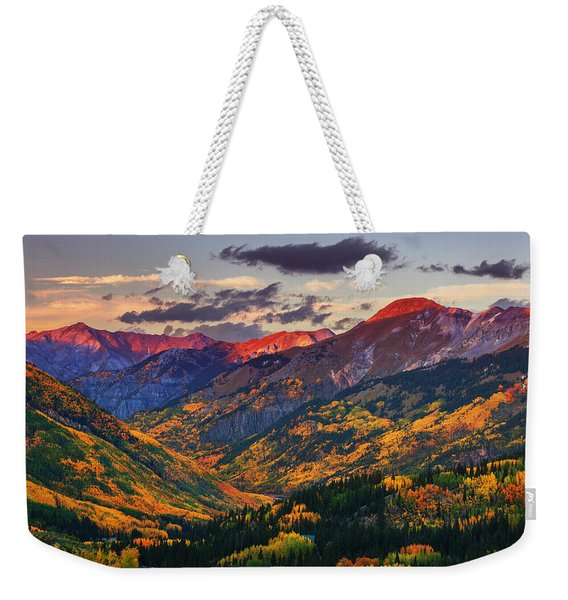 Red Mountain Pass Sunset Weekender Tote Bag