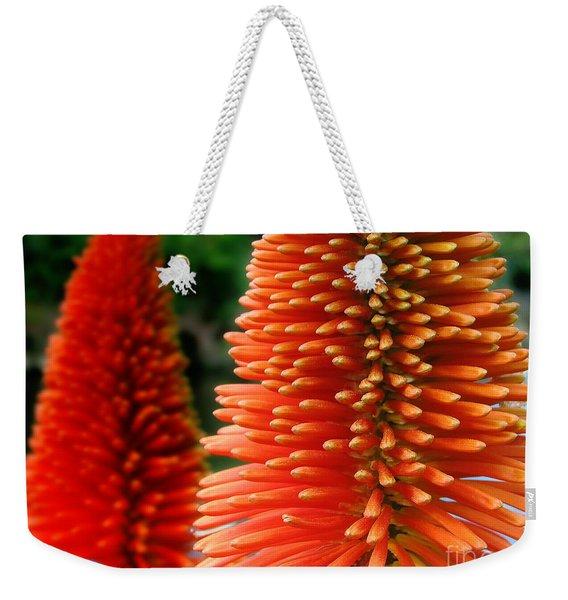 Red-orange Flower Of Eremurus Ruiter-hybride Weekender Tote Bag