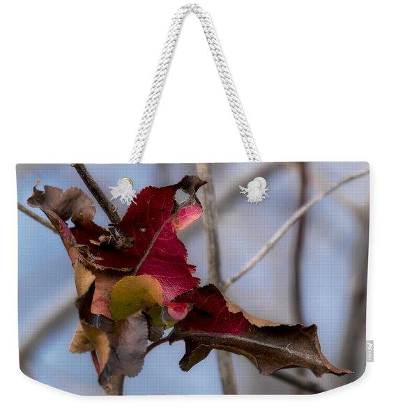 Red Over Branch Weekender Tote Bag