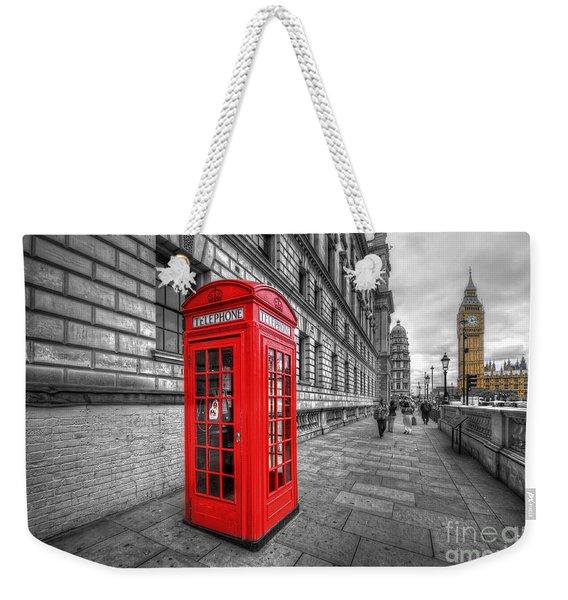 Red Phone Box And Big Ben Weekender Tote Bag