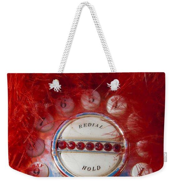 Red Phone For Emergencies Weekender Tote Bag