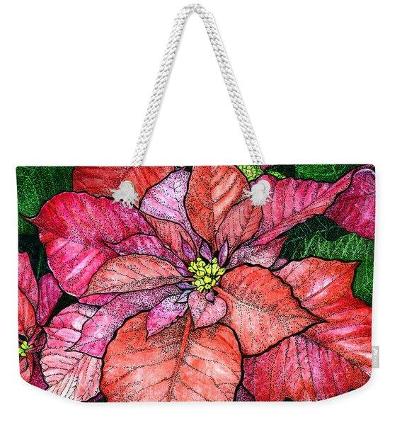 Red Poinsettias II Weekender Tote Bag