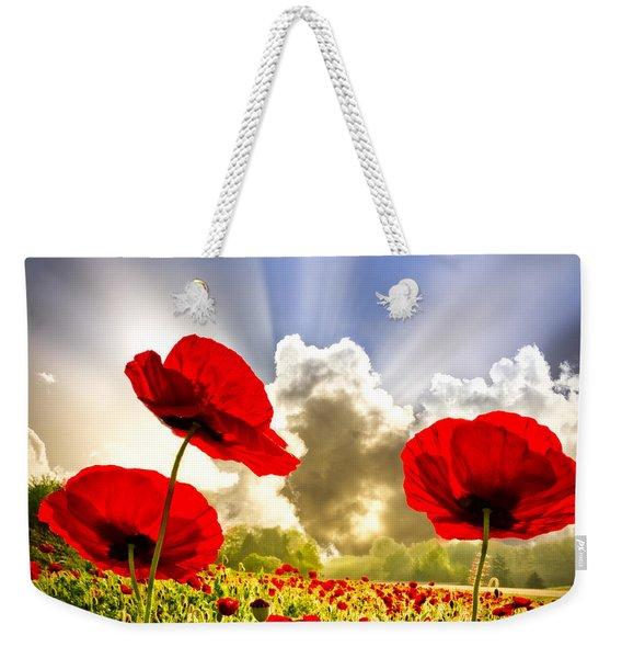 Red Poppies Weekender Tote Bag