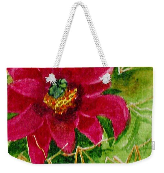 Red Prickly Pear Weekender Tote Bag