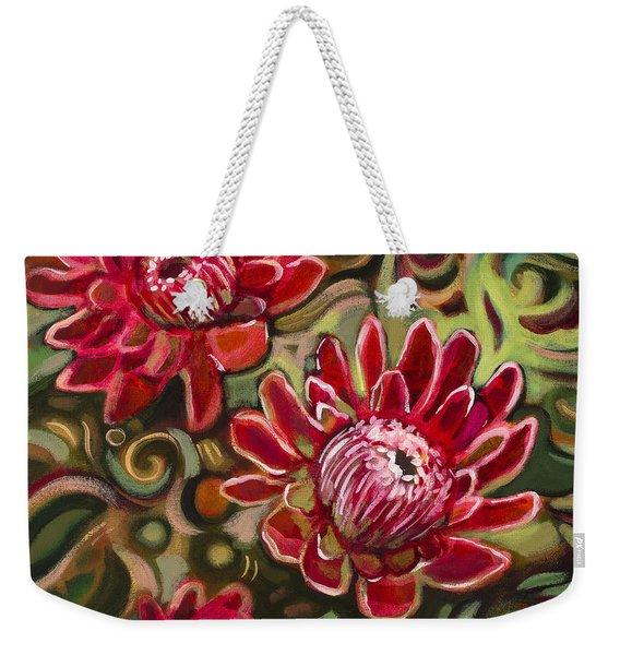 Red Proteas Weekender Tote Bag