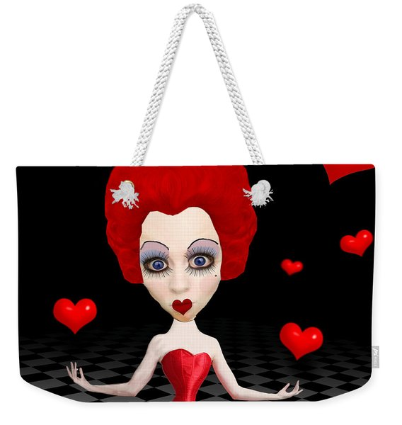 Red Queen Of Hearts Weekender Tote Bag