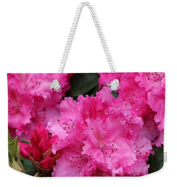 Red Rhododendrons Weekender Tote Bag