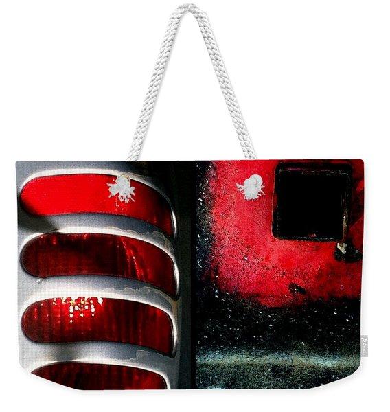 Red Road Rage Weekender Tote Bag