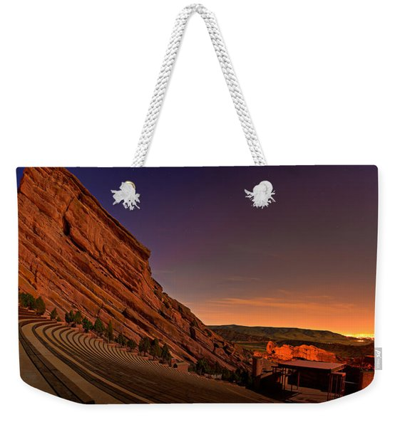 Red Rocks Amphitheatre At Night Weekender Tote Bag