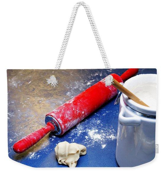 Red Rolling Pin Weekender Tote Bag
