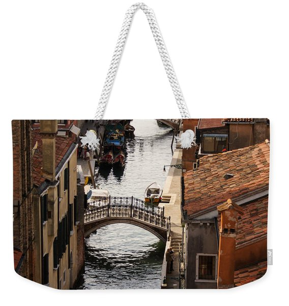 Red Roofs Of Venice Weekender Tote Bag