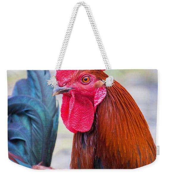 Red Rooster Weekender Tote Bag