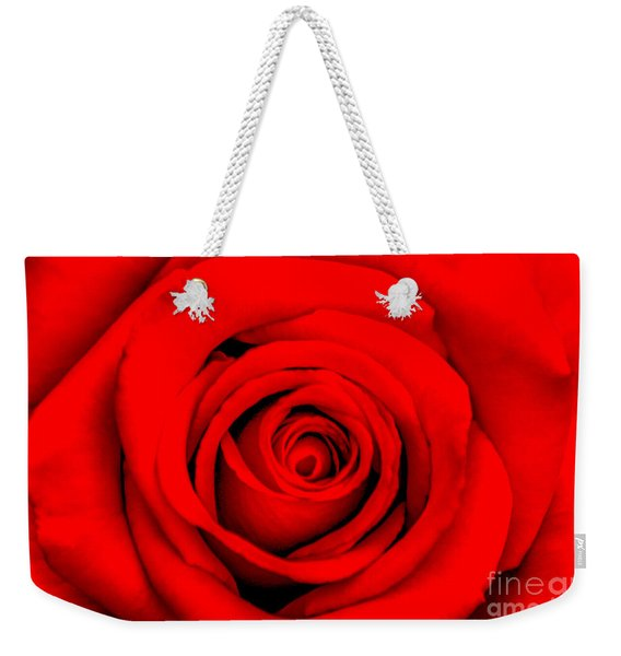 Red Rose 1 Weekender Tote Bag