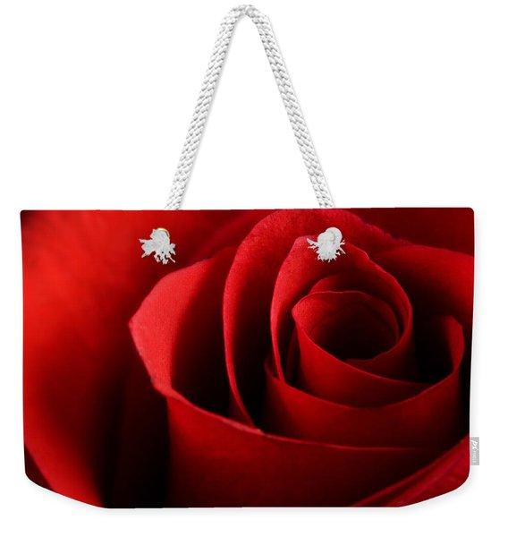 Red Rose Macro Weekender Tote Bag