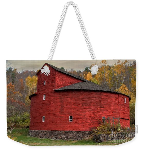 Red Round Barn Weekender Tote Bag