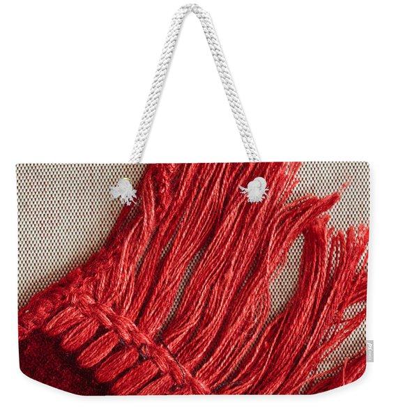 Red Rug Weekender Tote Bag