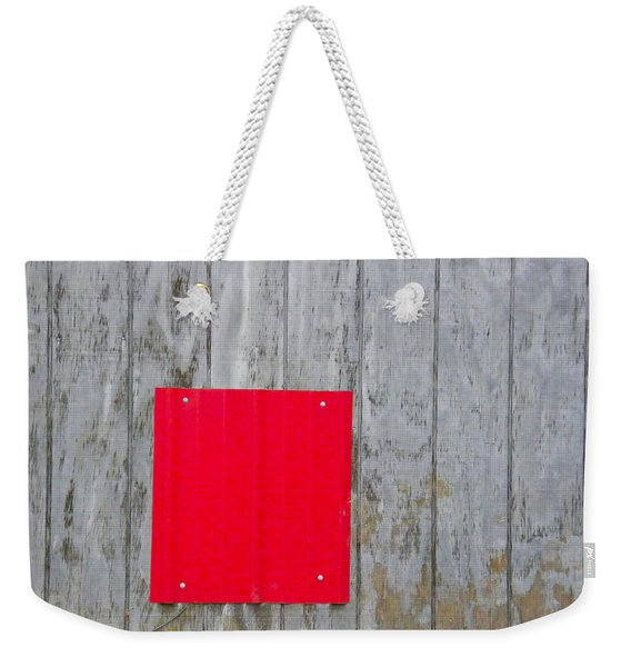 Red Square On A Wall Weekender Tote Bag