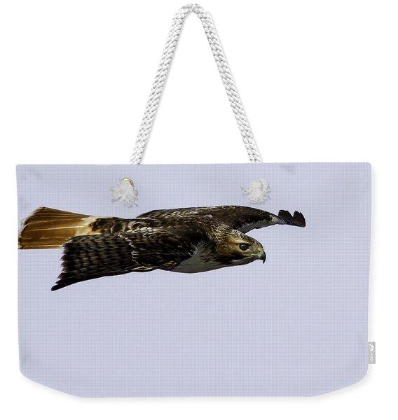 Red-tailed Hawk In Flight 2 Weekender Tote Bag