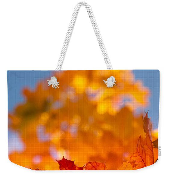 Red Tipped Gold Weekender Tote Bag