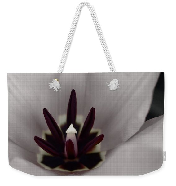 Red Tulip In Black N White Weekender Tote Bag