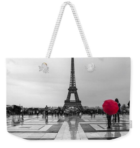Red Umbrella Weekender Tote Bag