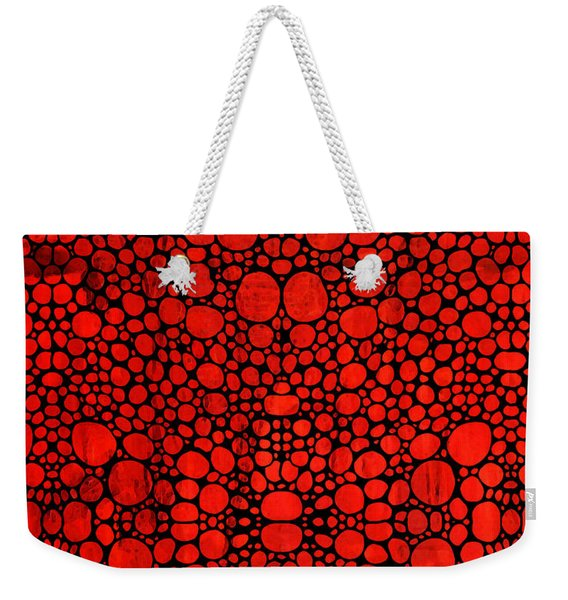 Red Valley - Abstract Landscape Stone Rock'd Art Weekender Tote Bag