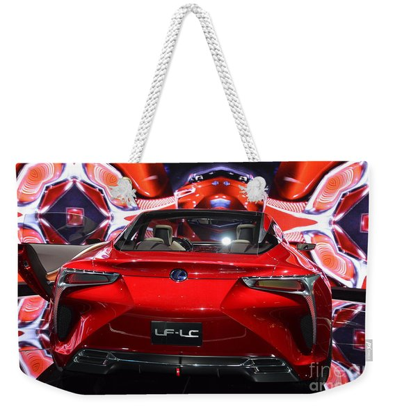 Red Velocity Weekender Tote Bag