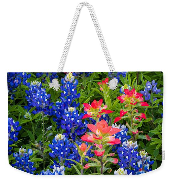 Red White And Blue Weekender Tote Bag