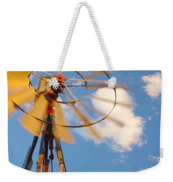 Red Wind Windmill Weekender Tote Bag