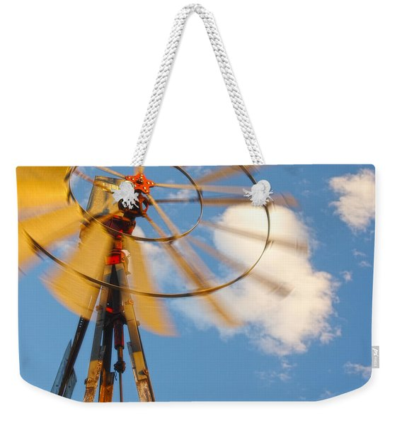 Red Wind Windmill Weekender Tote Bag