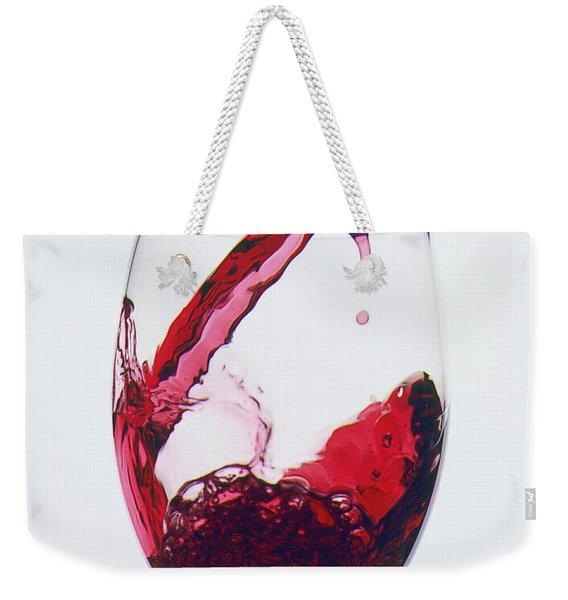 Red Wine Being Poured  Weekender Tote Bag