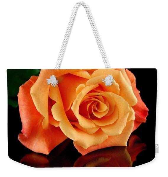 Reflected Rose Weekender Tote Bag