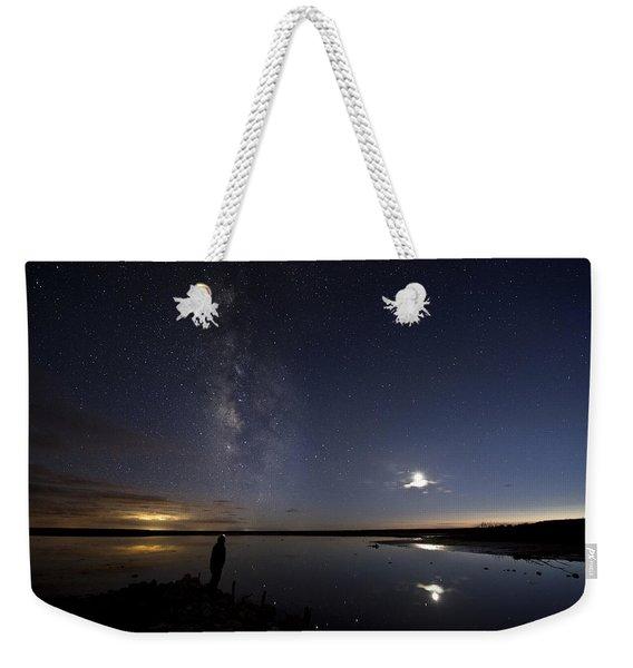 Reflecting On The Milky Way Weekender Tote Bag