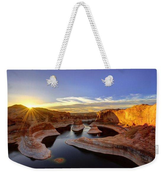 Reflection Canyon Sunrise Weekender Tote Bag