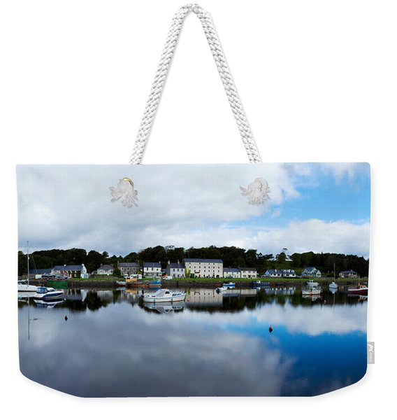 Reflection Of Clouds In Water, Newport Weekender Tote Bag