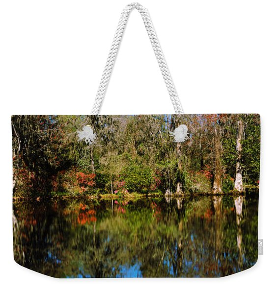 Reflection Of Spanish Moss Covered Weekender Tote Bag