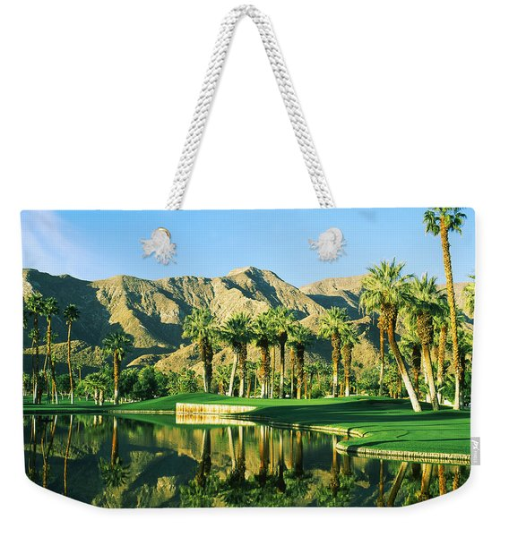 Reflection Of Trees On Water In A Golf Weekender Tote Bag
