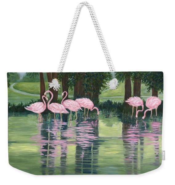 Reflections In Pink Weekender Tote Bag