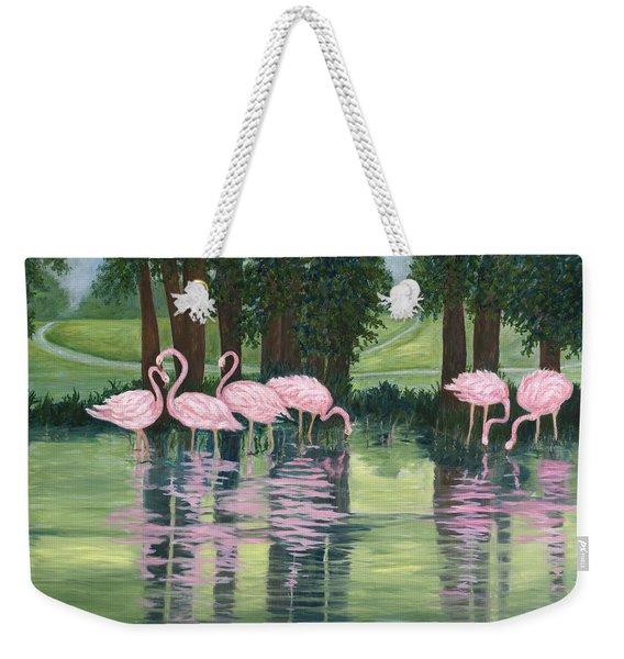 Reflections In Pink Weekender Tote Bag
