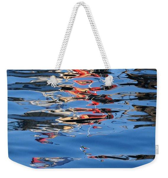 Reflections In Red Weekender Tote Bag