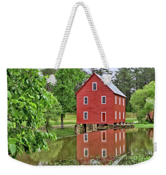 Reflections Of A Retired Grist Mill Weekender Tote Bag