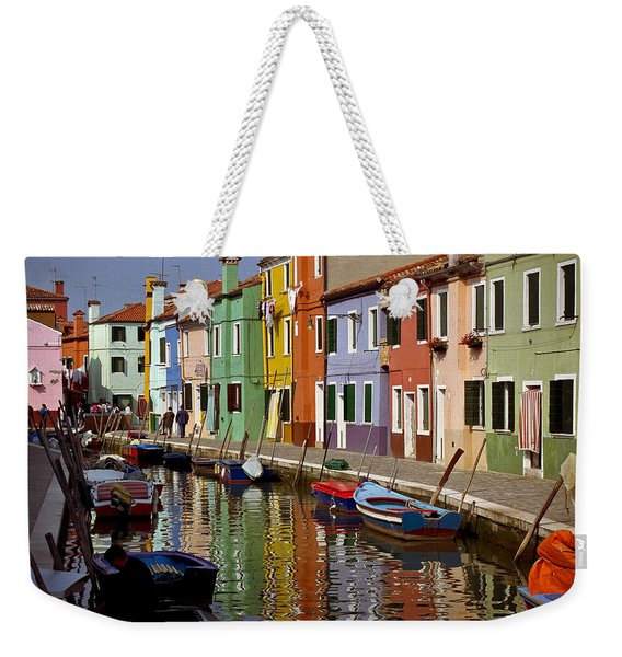 Reflections Of Burano Weekender Tote Bag