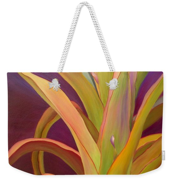 Weekender Tote Bag featuring the painting Regalia by Sandi Whetzel