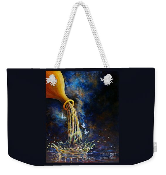 Weekender Tote Bag featuring the painting Regeneration by Nancy Cupp