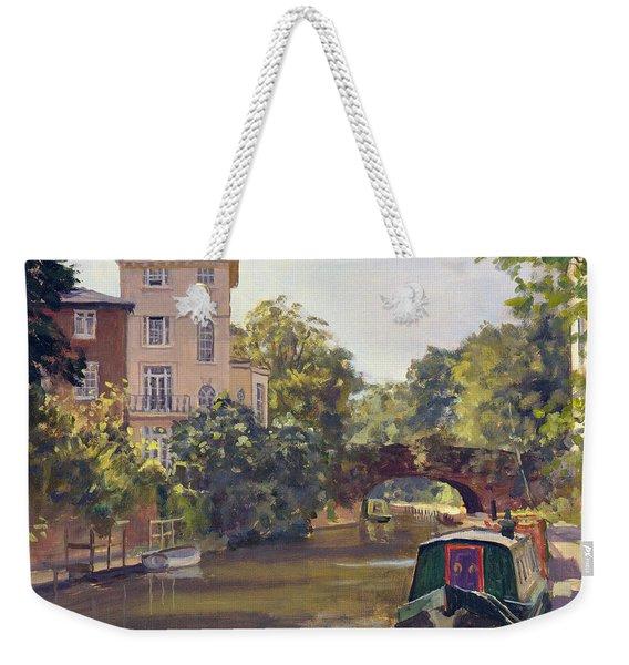 Regents Park Canal Oil On Canvas Weekender Tote Bag
