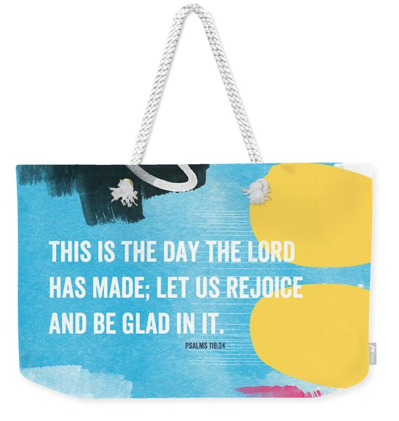 Rejoice And Be Glad- Contemporary Scripture Art Weekender Tote Bag